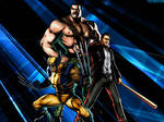 UMVC3 Team Wallpaper: Frank, Haggar, Wolverine