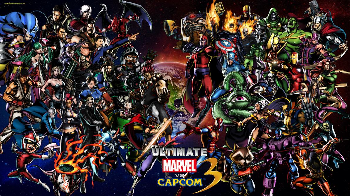 Must see Wallpaper Marvel Deviantart - ultimate_marvel_vs_capcom_3_cast_wallpaper_by_bxb_minamimoto-d4fkkpn  You Should Have_955617.png