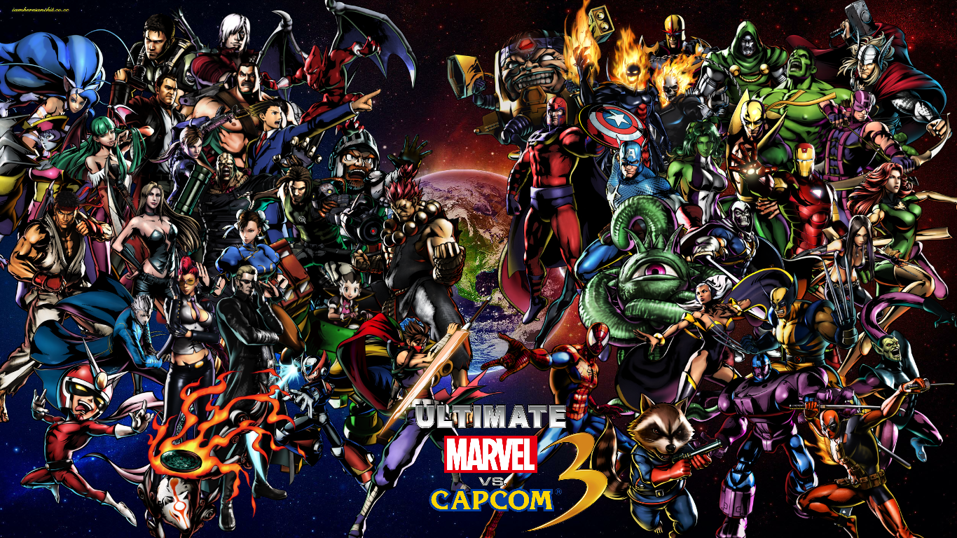 Ultimate Marvel vs Capcom 3 cast Wallpaper by bxb ... | 1366 x 768 png 2421kB