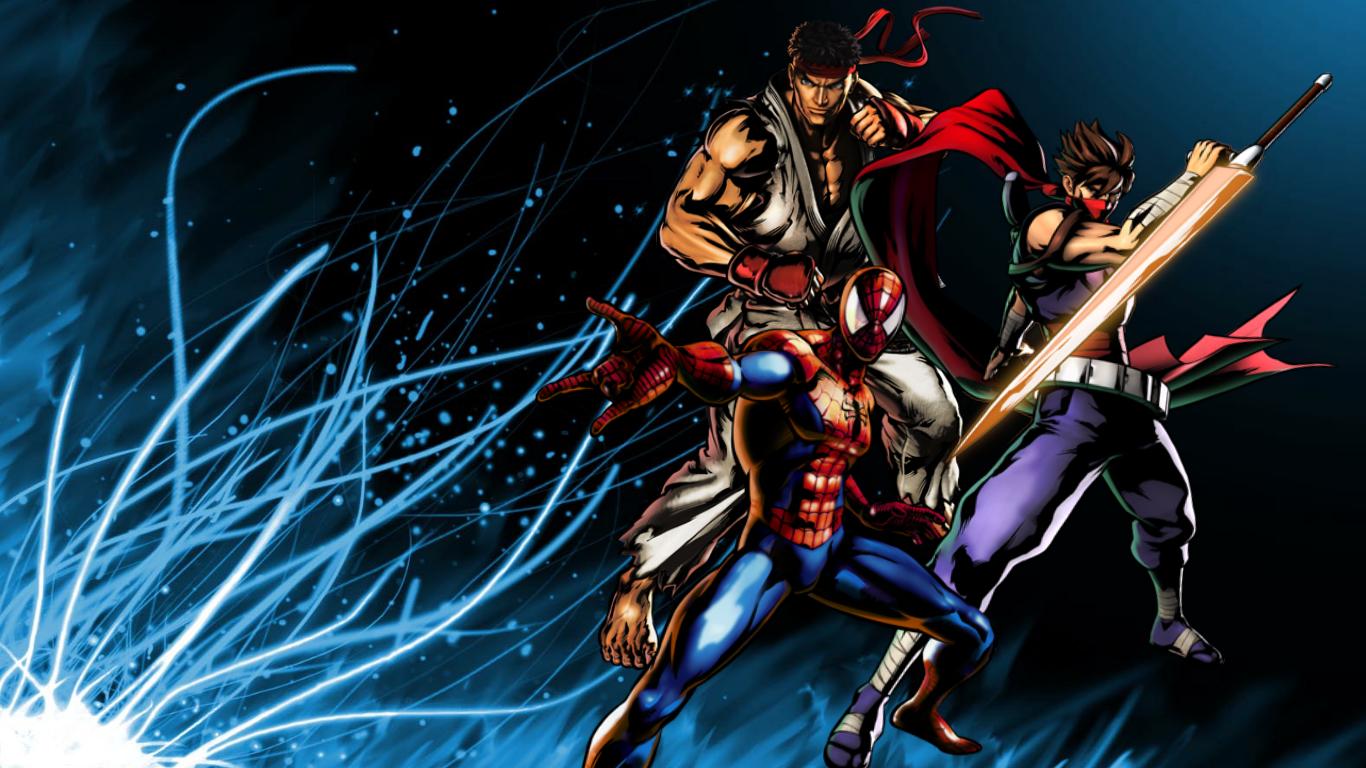 Fondos De Pantalla 3d Con Movimiento Gratis Para Pc Best: UMVC3 Team Wallpapers: Ryu, Spider-Man, Strider By Bxb