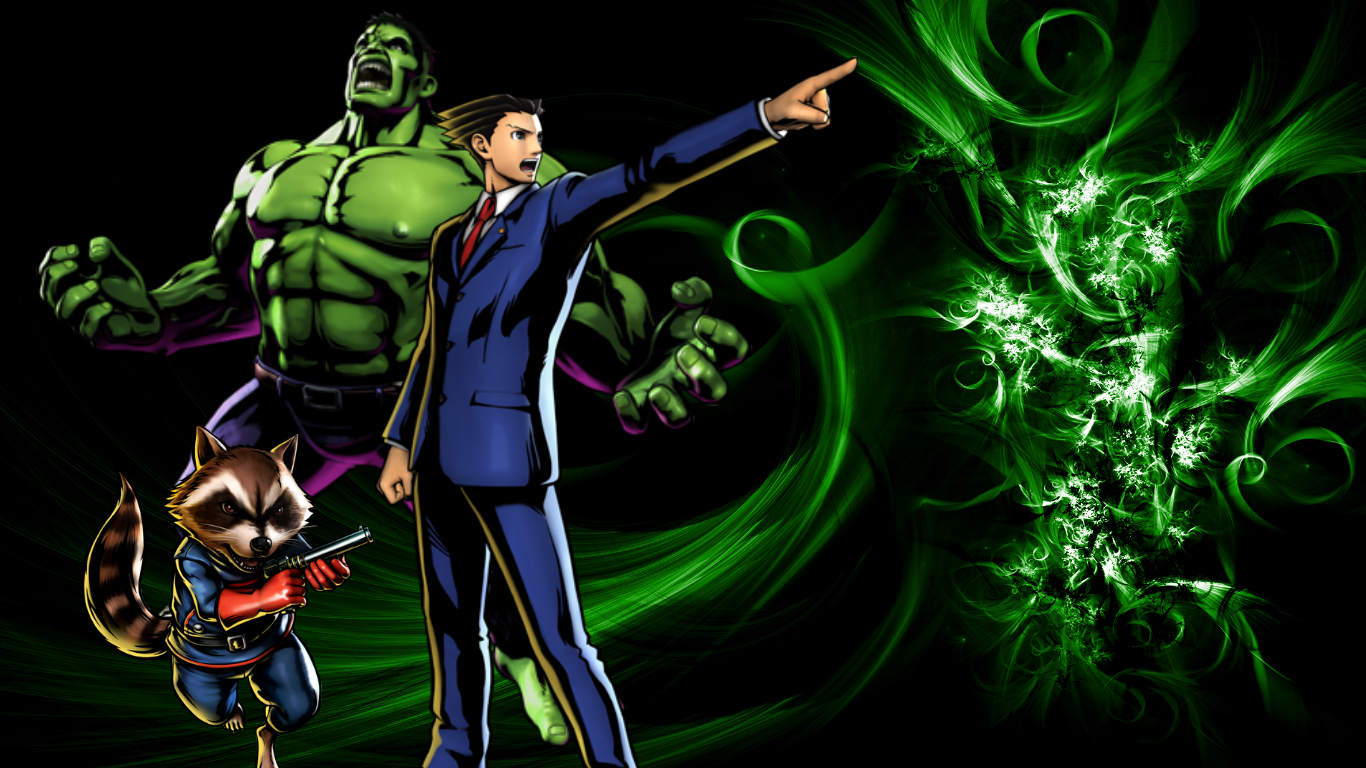 UMVC3 Team Wallpapers: Wright, Rocket and Hulk by bxb ...