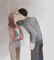 AxA - Secret kiss by solalis1226