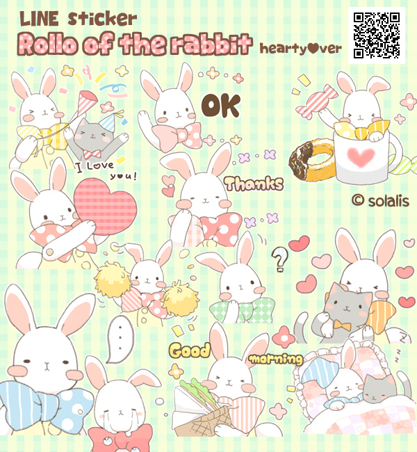 Rollo of the rabbit LINE sticker! by solalis1226