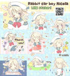 Rabbit ear boy Nicola LINE sticker!