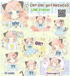 Cat ear girl Necoco 5 LINE sticker!