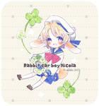 Rabbit ear boy Nicola and clover