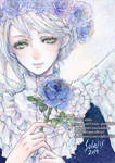 Blue rose and Angel