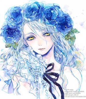 Blue rose garlands III