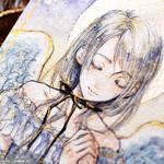 For prayer - Angel - Glitter painting