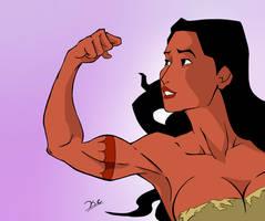Pocahontas strength pose by ThePhantomV