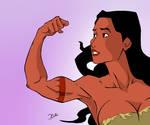Pocahontas strength pose
