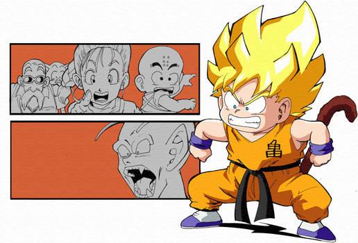 What if- Super Saiyan kid Goku