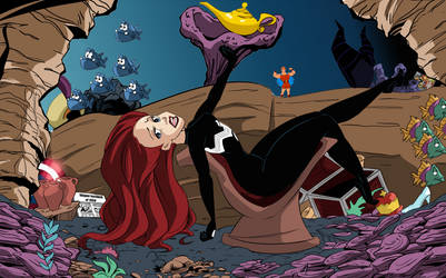 Ariel Relaxing Under The Sea.
