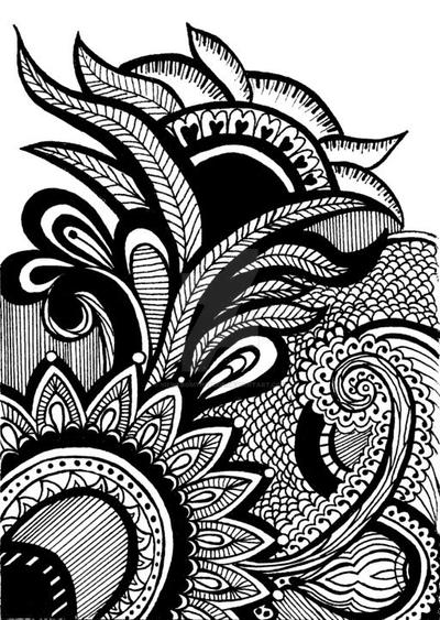 Line Art Poster Design : Henna abstract line drawing print by viewfromtheedge on