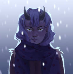 It's a Snowstorm by YumeOnii