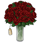 Item - Big Bunch of Red Roses by Wyngrew
