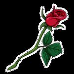 Single Rose by Wyngrew