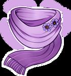 Lavender scarf [CUSTOM] by Wyngrew