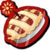 Wyngro Sticker - Cherry Bomb Pie by Wyngrew
