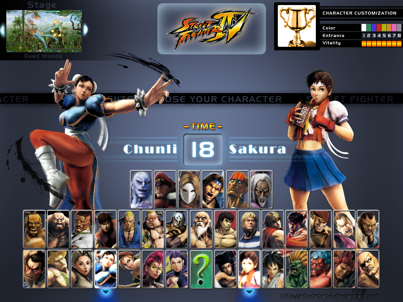 Sf 4 Character Select Screen By Khotebabu On Deviantart