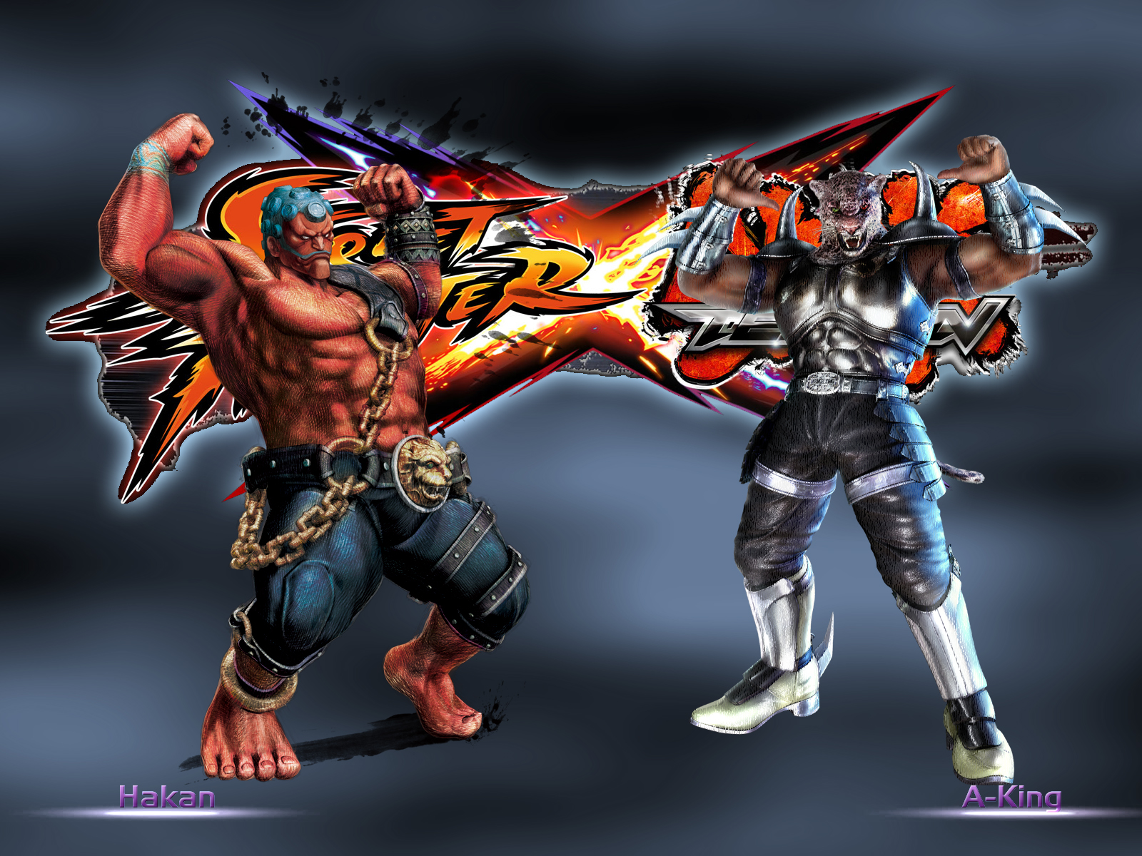 Hakan vs A-king - SFxTekken by khotebabu