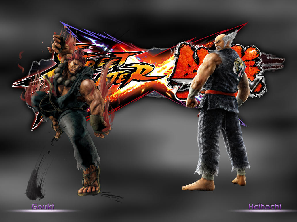 Akuma vs Heihachi - SFxTekken by khotebabu
