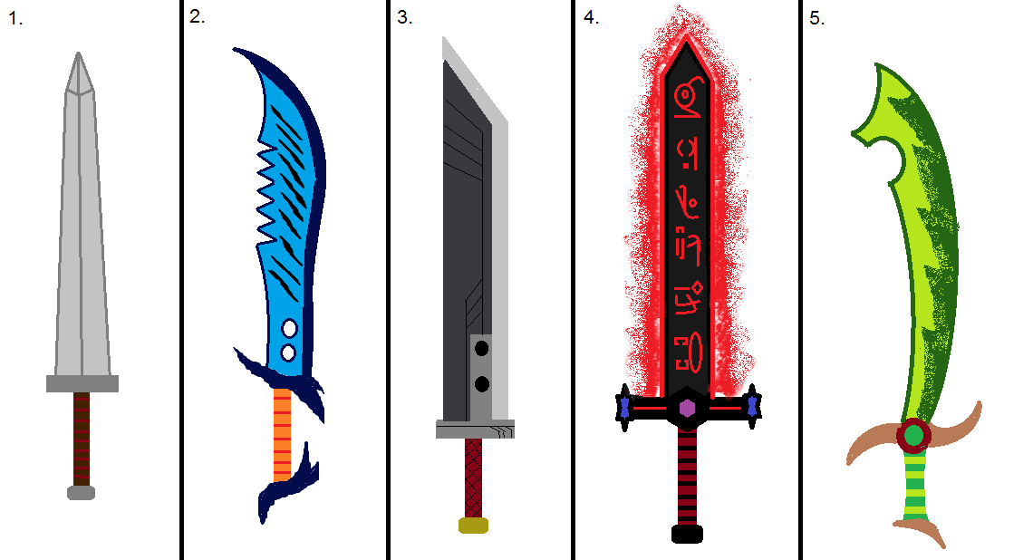 Raphael's 2h Sword Designs 1-5 by 20945 on DeviantArt