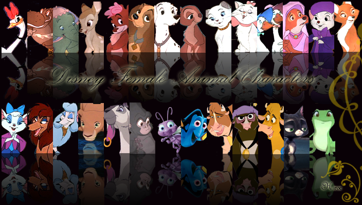 Disneyanimalfemales by hiroe90 on deviantart - Female cartoon characters wallpapers ...