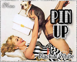 Pin Up Girls - Black and White by hiroe90
