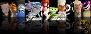 Pixar Villains Collage