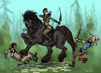 Bandits on the road by Zanna-kun