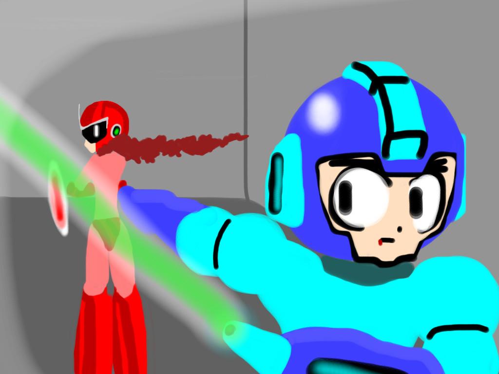 Mega Man and Proto Man - The Battle by Cheetogod