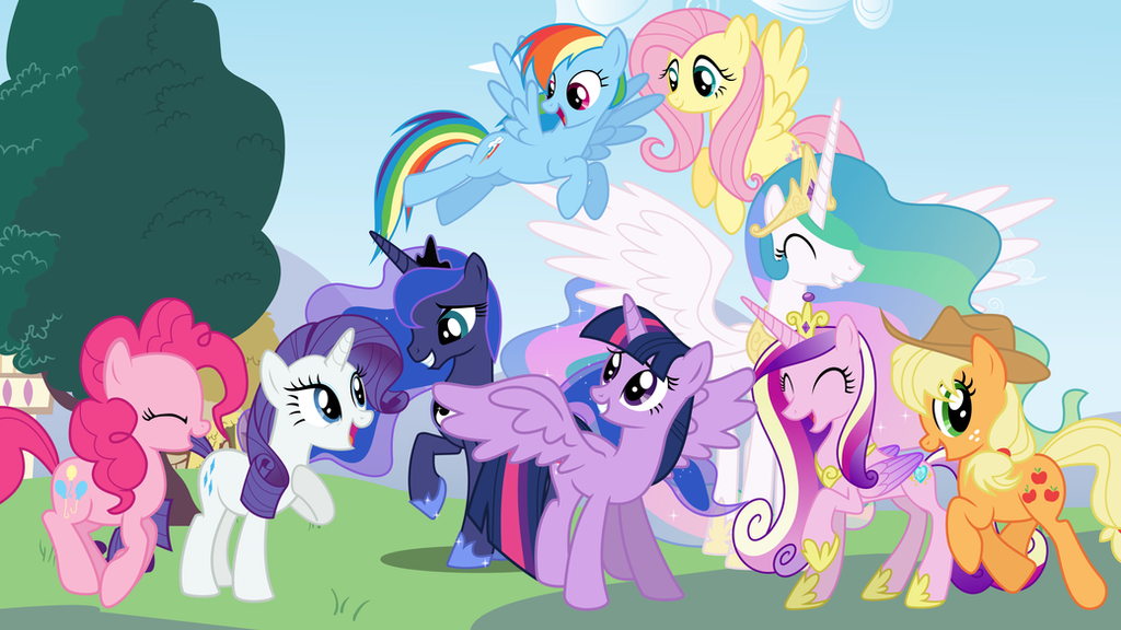 Mane 6 And The Princesses By Vomwerth On DeviantArt