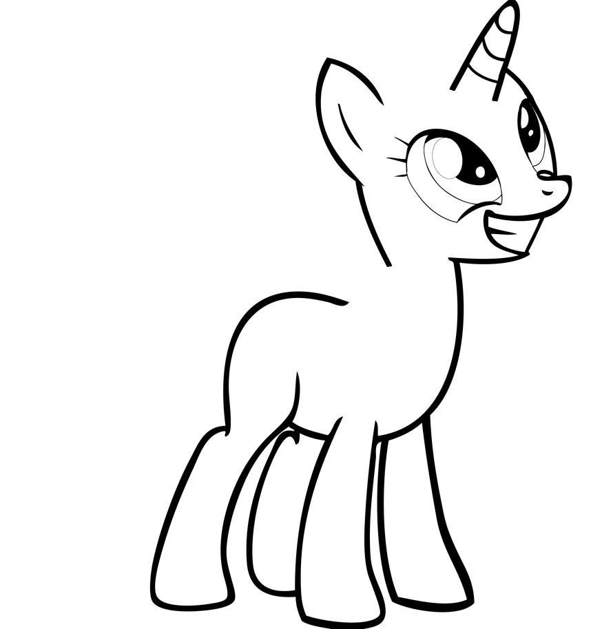 Mlp Blank Pony Several My Little Pony Papercrafts Free Blank