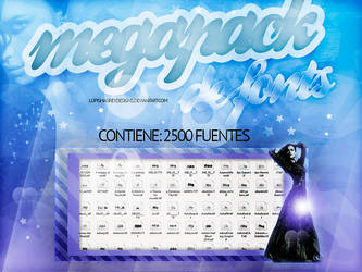 MEGAPACK DE FONTS by LupishaGreyDesigns
