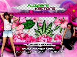 +FLOWERS VECTORS by LupishaGreyDesigns
