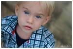 Blond hair Blue eyes