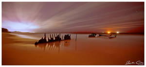Dickeys Beach Ship Wreck by jaydoncabe