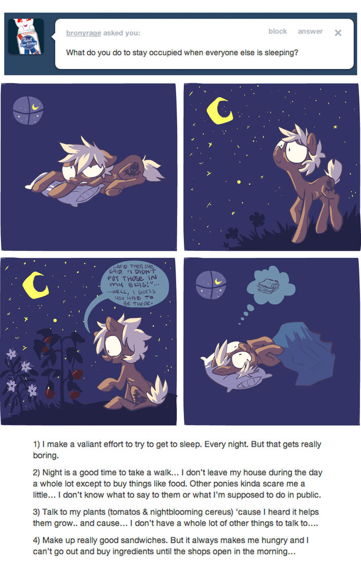 Things to do at Night by ponywise
