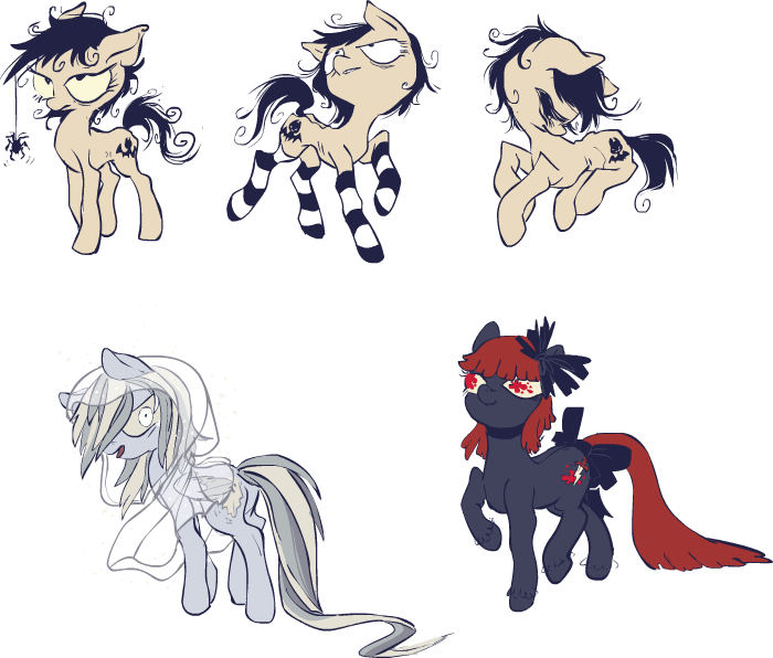goth ponies by ponywise