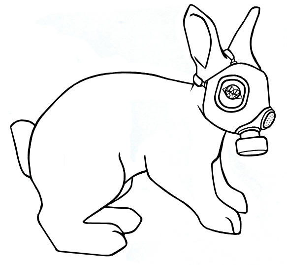 Gas Mask Bunny by inle on DeviantArt