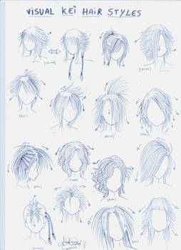 Visual kei hair styles