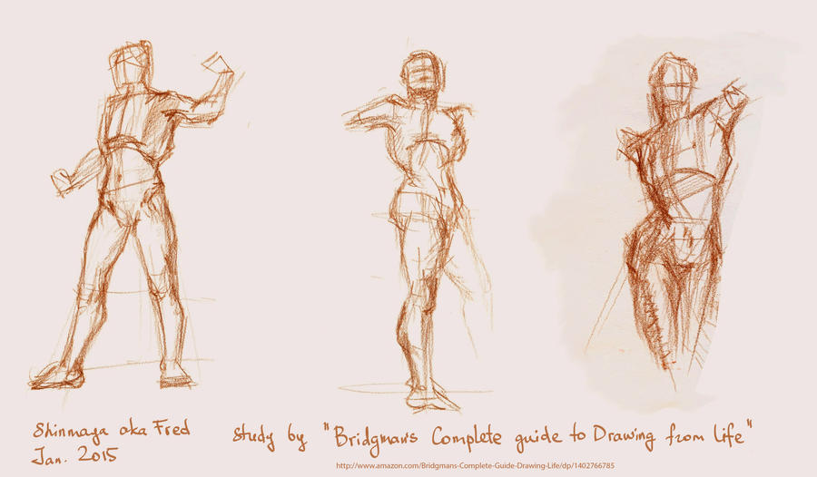Figure Drawing Practice 20.01.15 by LoonyFred on DeviantArt