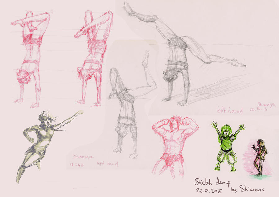 Figure Drawing Practice 22.01.15 by LoonyFred on DeviantArt