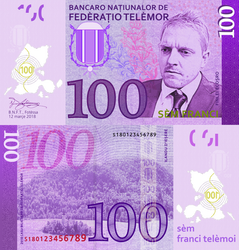 Telemor 100 Franc Note, 2018 Version by requindesang