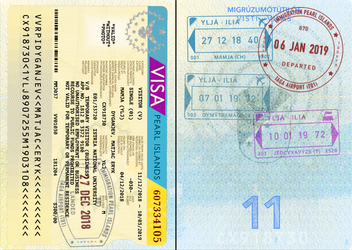 Ilia Passport Stamp Page (+ Stuff) by requindesang
