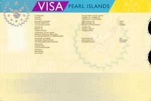 Blank Pearl Islands Visa, v. IDK