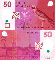 Pearl Islands 50 Shilling, Polymer Edition