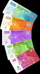 Pearl Island Shilling Banknote Fan