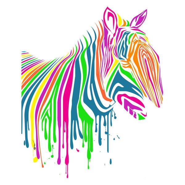 131cb9d02 t shirts canada: Zebra Art Neon T Shirt by DesignByHumans on DeviantArt